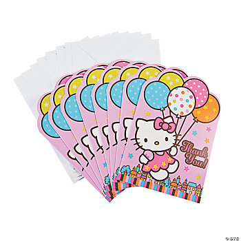"Hello Kitty® Balloon Dreams ""Thank You"" Notes"