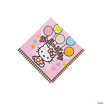 """Hello Kitty®"" Balloon Dreams Beverage Napkins"