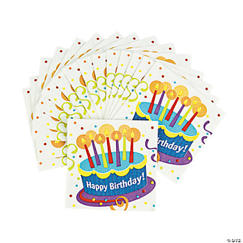Birthday Cake Surprise Beverage Napkins