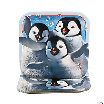 Happy Feet Two™ Square Dinner Plates