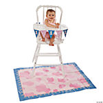 1st Birthday Cowgirl High Chair Set