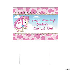 Personalized 1st Birthday Cowgirl Yard Sign
