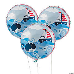 1st Birthday Sailor Mylar Balloons