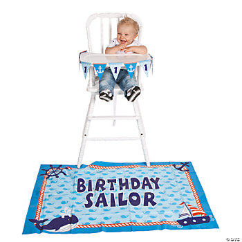 1st Birthday Sailor High Chair Set