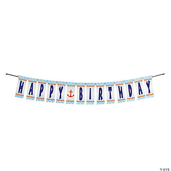 "1st Birthday Nautical ""Happy Birthday"" Jointed Banner"