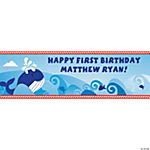 Personalized Medium 1st Birthday Nautical Banner