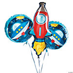 Rocket Party Mylar Balloons