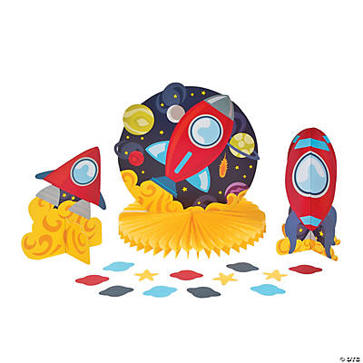 Rocket Party Table Top Decorating Kit