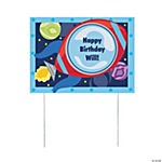 Personalized Rocket Party Yard Sign