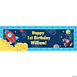 Personalized Medium Rocket Party Banner
