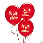 1st Birthday Red Latex Balloon