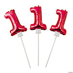 1st Birthday Red Self-Inflating Mylar Balloons