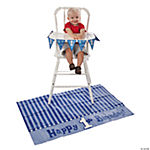 """1st Birthday"" Blue High Chair Set"