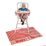 """1st Birthday"" Red High Chair Set"