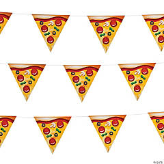 Pizza Party Pennant Banner