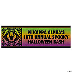 Personalized Spooky Party Banner - Small