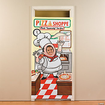 Pizza Party Photo Door Banner