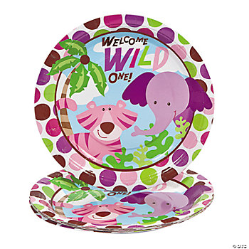 8 Safari Girl Dinner Plates