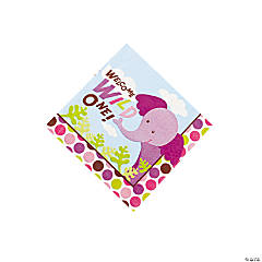 Safari Girl Baby Shower Beverage Napkins