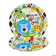 8 Safari Boy Dinner Plates