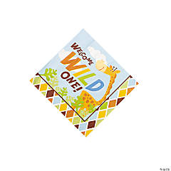 16 Safari Boy Beverage Napkins