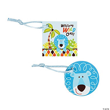 24 Safari Boy Favor Tags