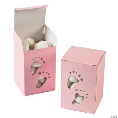 Baby Girl Footprint Pink Treat Boxes