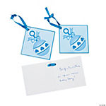 24 Boy Baby Shower Favor Tags