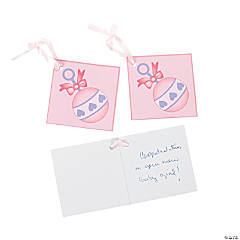 24 Girl Baby Shower Favor Tags