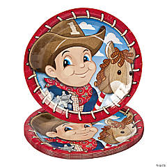 1st Birthday Cowboy Dinner Plates