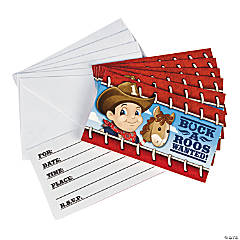 8 1st Birthday Cowboy Invites