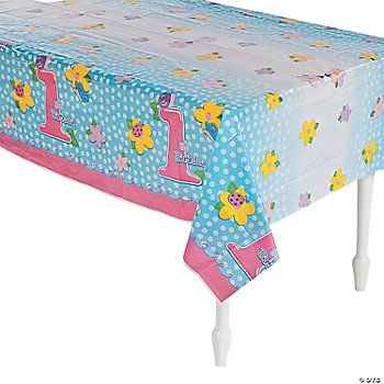 """1st Birthday"" Girl Table Cover"