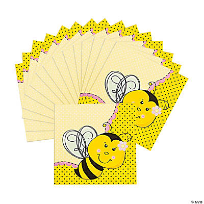 16 Bee Party Lunch Napkins