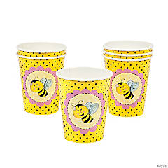8 Bee Party Cups