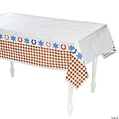 1st Birthday Cowboy Table Cover