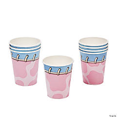 1st Birthday Pink Cowgirl Cups