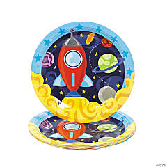 1st Birthday Rocket Dinner Plates