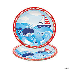 1st Birthday Sailor Dinner Plates