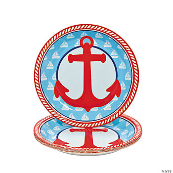 1st Birthday Sailor Dessert Plates