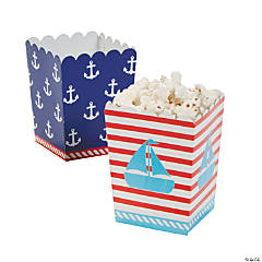 1st Birthday Sailor Mini Popcorn Boxes