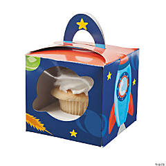 1st Birthday Rocket Party Cupcake Boxes
