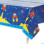 1st Birthday Rocket Party Table Cover