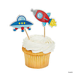Large 1st Birthday Rocket Party Picks