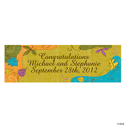 Personalized Autumn Leaves Banners - Medium