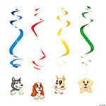 Puppy Party Dangling Swirls