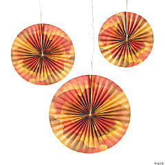 Fall Floral Hanging Fans