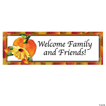 Personalized Fall Floral Banner - Small