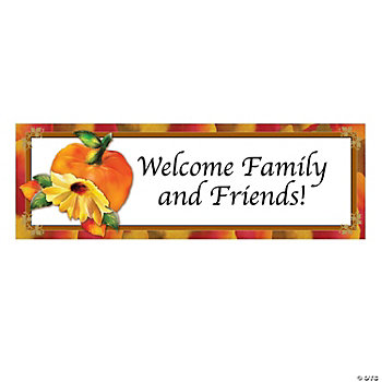 Personalized Fall Floral Banners - Medium