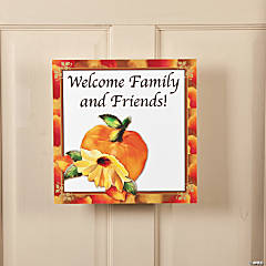 Personalized Fall Floral Window Clings