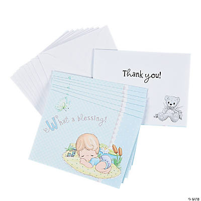 "Baby Boy Precious Moments® Baby Shower ""Thank You"" Notes"